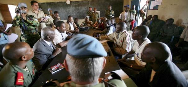 Participants in Disarmament, Demobilization and Reintegration Meeting